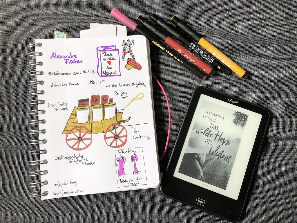 Das wilde Herz des Westens von Alexandra Fischer ebook und Sketchnote