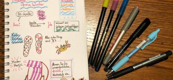 Im Strandkorb küsst sichs besser Michelle Schrenk und Anna Winter Sketchnote mit Stiften