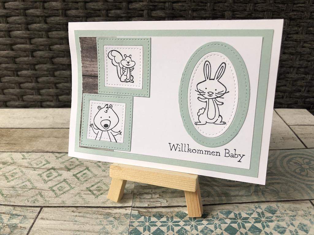 Babykarte mit Bildern