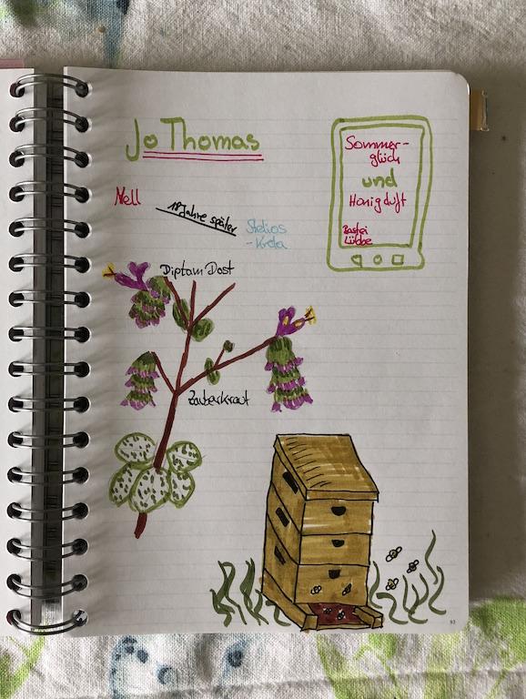 Sommerglück und Honigduft von Jo Thomas Sketchnote