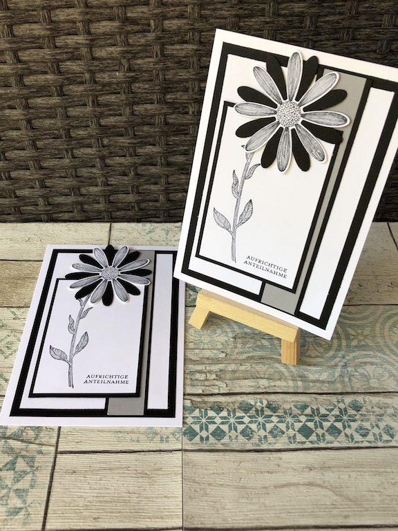 Trauerkarte Gänseblümchen