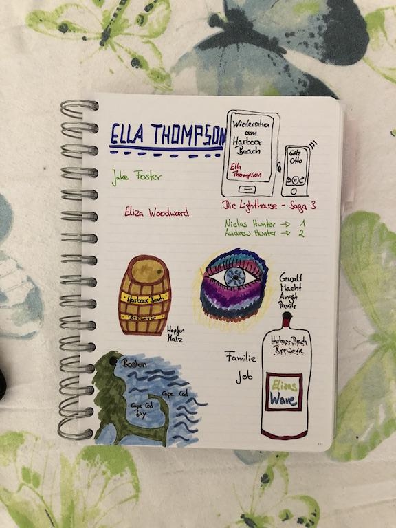 Wiedersehen am Harbour Beach von Ella Thompson Sketchnote
