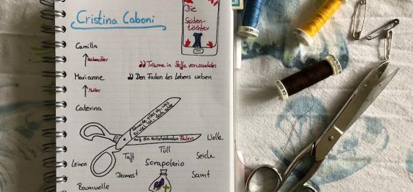 Die Seidentöchter von Cristina Caboni Sketchnote