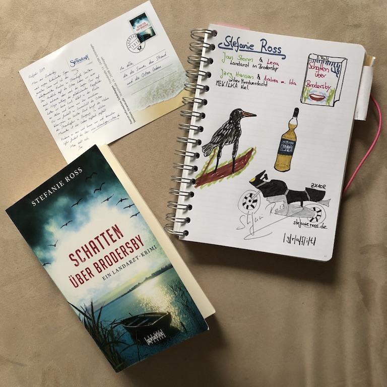 Schatten über Brodersby von Stefanie Ross Buch und Sketchnote