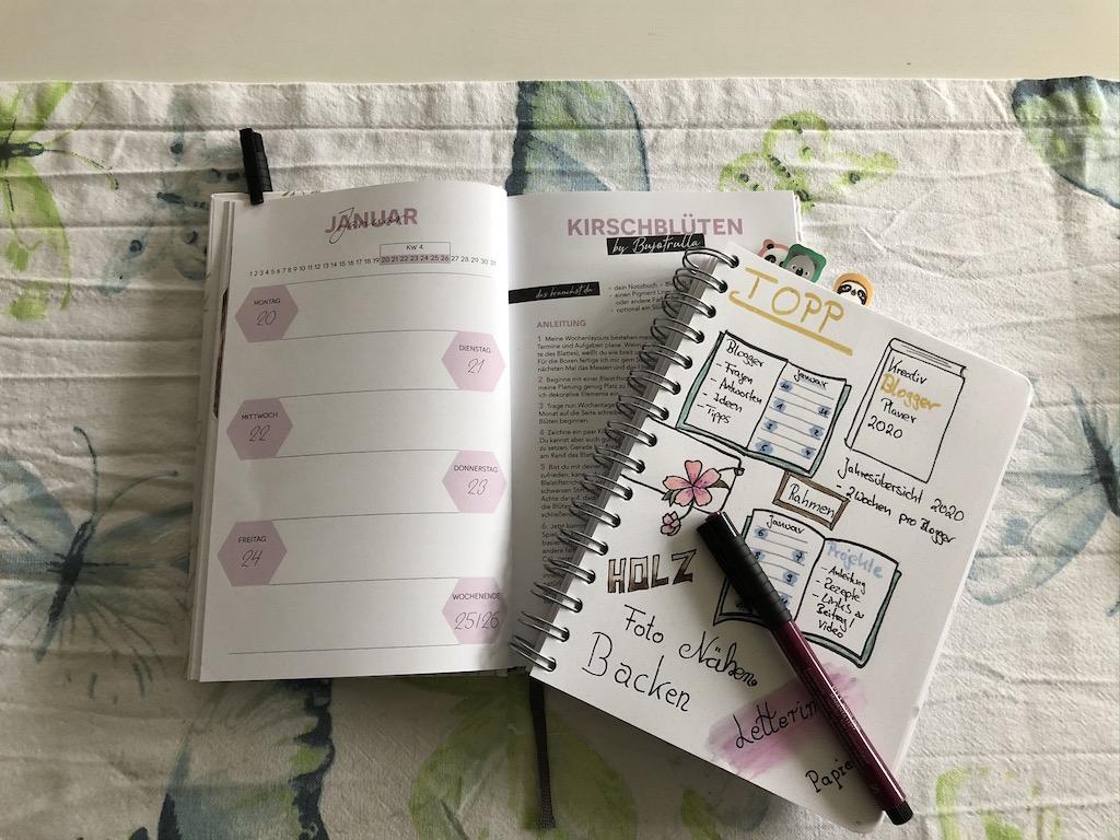 Kreativ Blogger Planer 2020 von Topp Sketchnote Kirschblüten