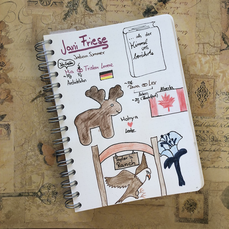 als der Himmerl uns berührte von Jani Friese Sketchnote zum Buch