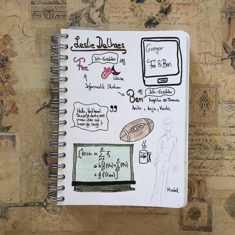 Ginger von Leslie Delhaes Sketchnote zum Buch