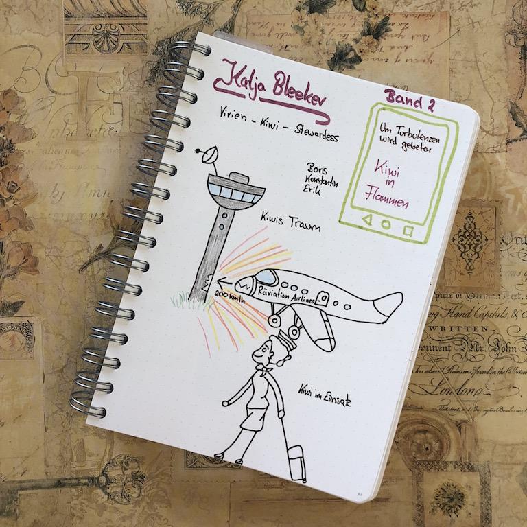 UTwg Kiwi in Flammen von Katja Bleeker Sketchnote zum Buch
