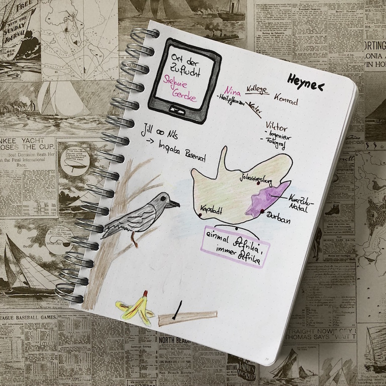Ort der Zuflucht von Stefanie Gercke Sketchnote zum Buch