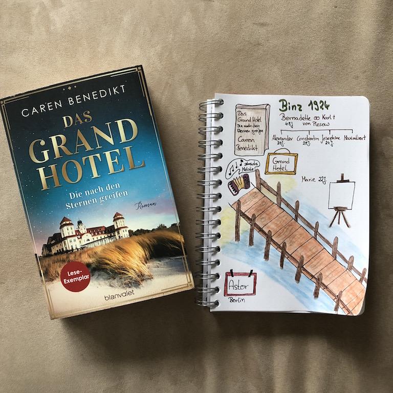 Das Grand Hotel von Caren Benedikt Sketchnote zum Buch