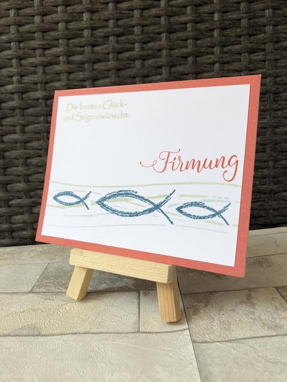 Glückwunschkarte zur Firmung mit Fischen