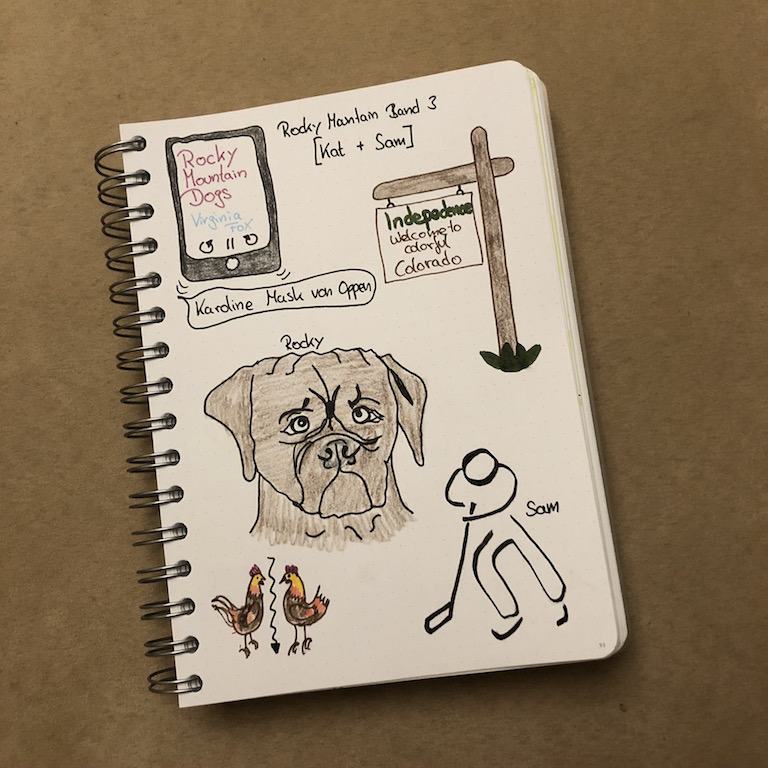 Rocky Mountain Dogs von Virginia Fox Sketchnote zum Buch Instagram