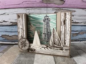 Bridge Card Leuchtturm und Segel