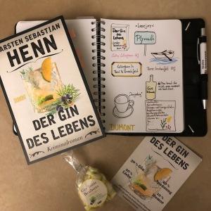 Der Gin des Lebens von Carsten Sebastian Henn Sketchnote mit Buch