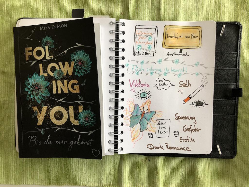 Following You von Mika D Mon Sketchnote mit Buch