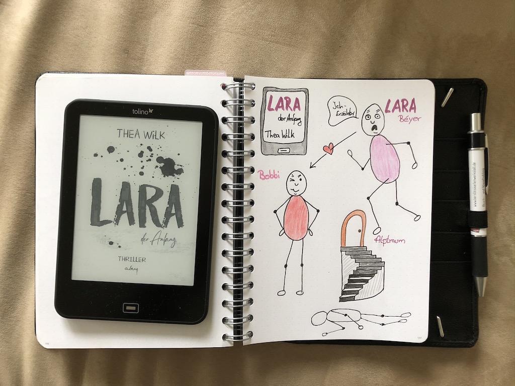 Lara der Anfang von Thea Wilk Sketchnote und eBook