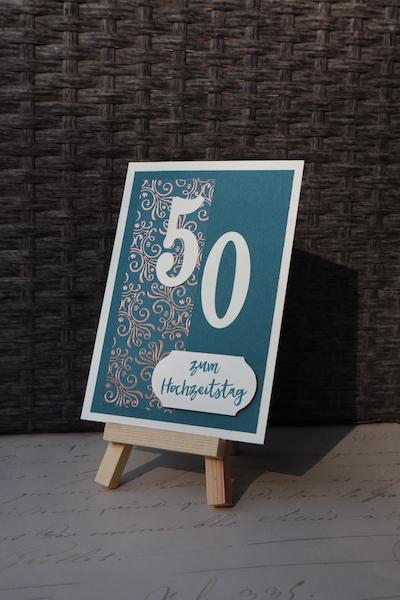 Grußkarte zum 50. Hochzeitstag