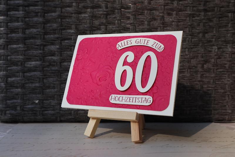 Grußkarte zum 60. Hochzeitstag