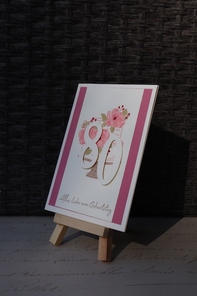 Grußkarte zum 80. Geburtstag