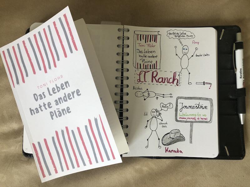 Das Leben hatte andere Pläne von Toni Flohr Buch und Sketchnote
