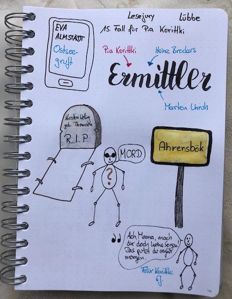 Ostseegruft von Eva Almstädt Sketchnote zum Buch