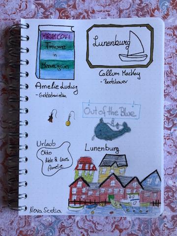 Träume in Meeresgrün von Miriam Covi Sketchnote zum Buch
