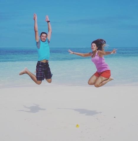 Foto mit Janet Zentel in Tonga
