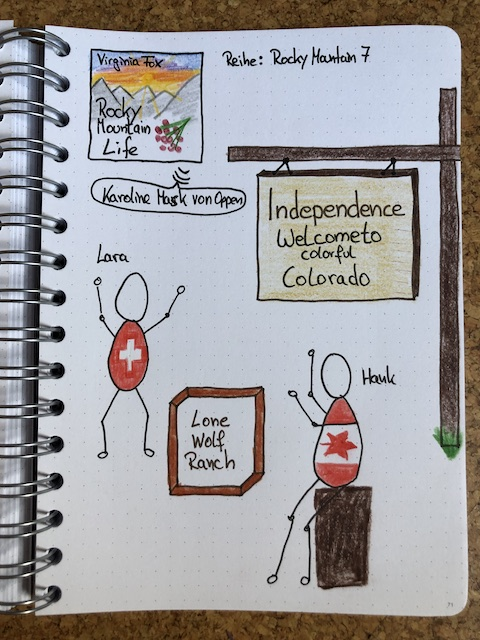 Rocky Mountain Life von Virginia Fox Sketchnote zum Hörbuch