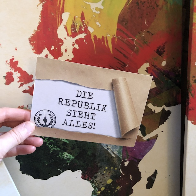 Die Republik Postkarte