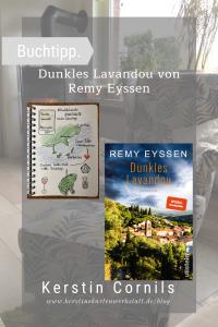 Dunkles Lavandou von Remy Eyssen Sketchnote und Rezension zum Buch von Kerstins Kartenwerkstatt