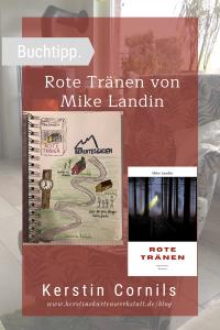 Rote Tränen von Mike Landin Sketchnote und Rezension zum Buch von Kerstin Cornils