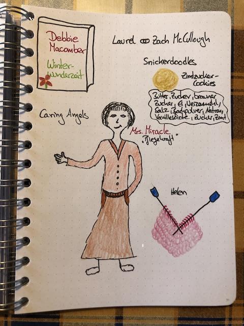Winterwunderzeit von Debbie Macomber Sketchnote und Rezension zum Buch von Kerstins Kartenwerkstatt