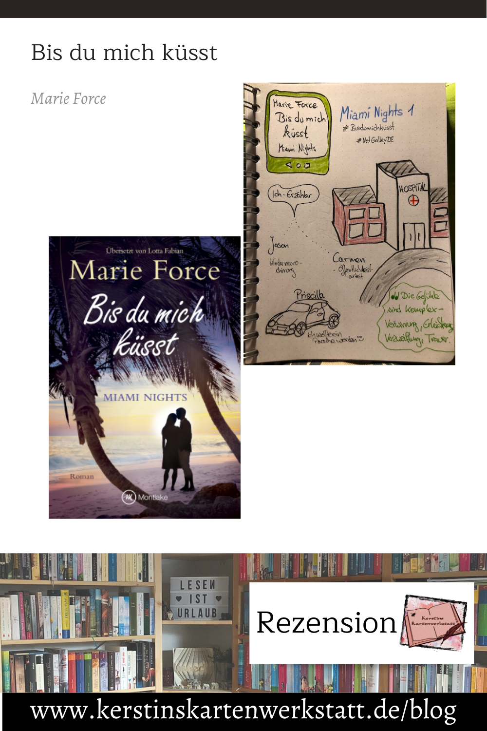 Bis du mich küsst von Marie Force Sketchnote und Rezension zum Buch von Kerstin Cornils
