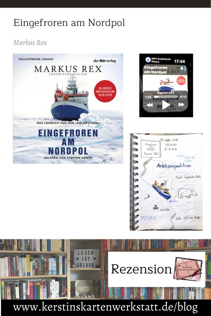 Eingefroren am Nordpol von Markus Rex Sketchnote und Rezension zum Hörbuch von Kerstin Cornils