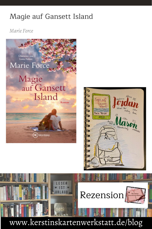 Magie auf Gansett Island von Marie Force Sketchnote und Rezension zum Buch von Kerstin Cornils