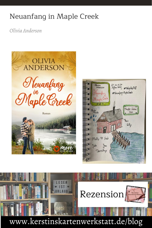 Neuanfang in Maple Creek von Olivia Anderson Sketchnote und Rezension zum Buch von Kerstin Cornils