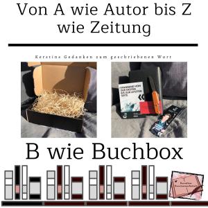 B wie Buchbox: Die Buchbox von Mainwunder zum Thriller: Blutroter Schatten von Patricia Walter