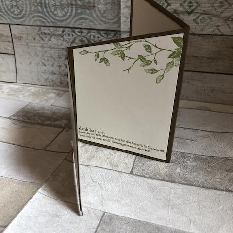 Kartenformat: Treppenkarte oder Zick Zack Karte: Motiv Ein Haus am Meer zum Thema Dankbarkeit