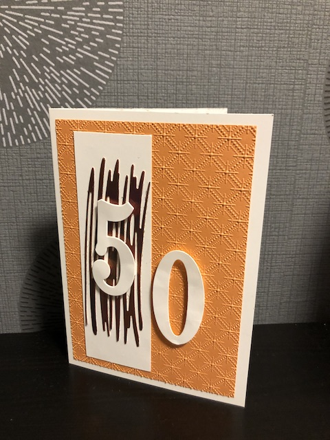 Geburtstagskarte zum 50 Geburtstag