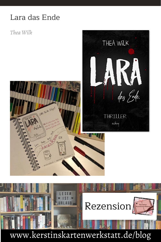 Lara das Ende von Thea Wilk Sketchnote und Rezension zum Buch von Kerstin Cornils