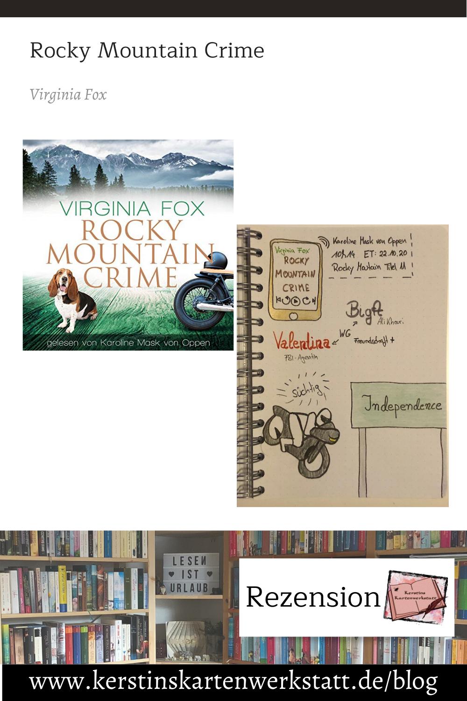 Rocky Mountain Crime von Virginia Fox Sketchnote und Rezension zum Hörbuch von Kerstin Cornils