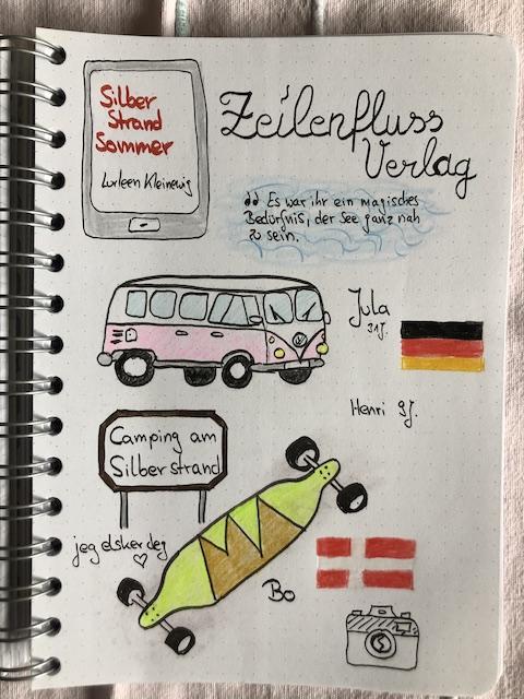 Silberstrandsommer von Lurleen Kleinewig Sketchnotes zum Buch