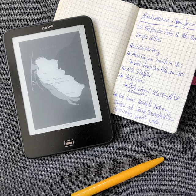 Eine Karte von St. Peter Ording mit meinen Notizen zum Kriminalroman: Nordwestzorn von Svea Jensen