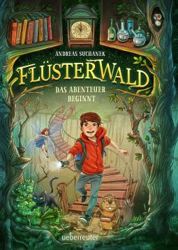 Cover vom Jugendbuch: Flüsterwald Das Abenteuer beginnt von Andreas Suchanek.