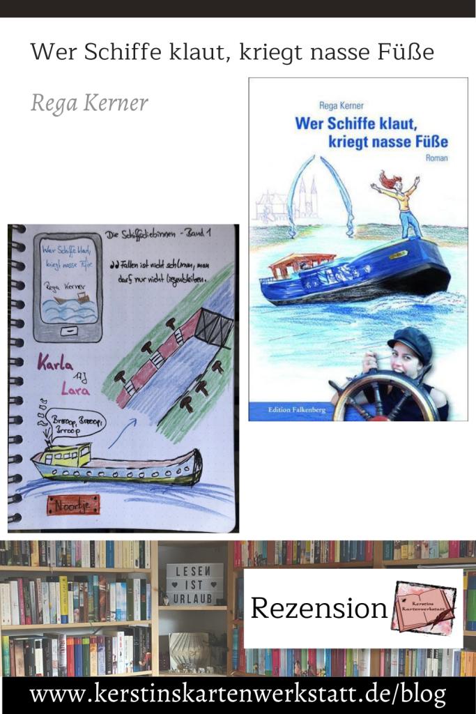 Wer Schiffe klaut, kriegt nasse Füße von Rega Kerner Sketchnotes zum Buch